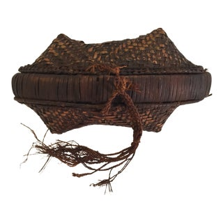 Early 20th Century Antique Tribal Basket For Sale