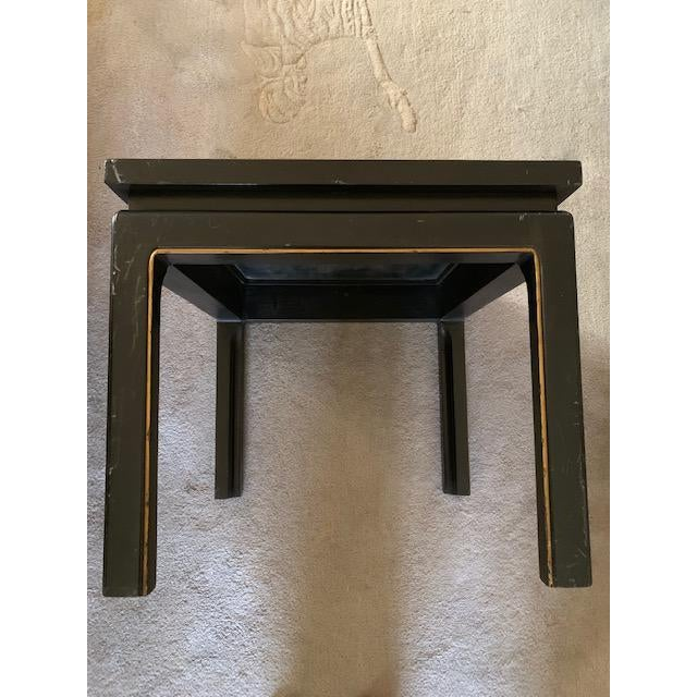 20th Century Asian Hand Painted Square Accent Table For Sale - Image 9 of 13