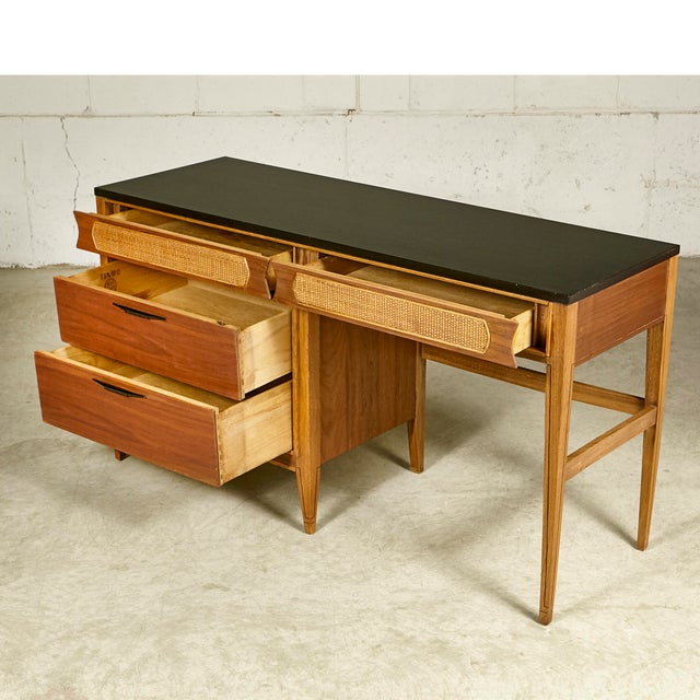 Mid-Century Modern 1960s Kent Coffey Walnut Tempo Desk For Sale - Image 3 of 9