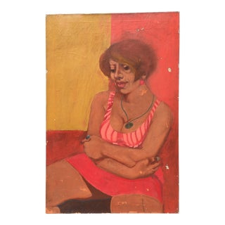 Woman in a Chair Painting For Sale