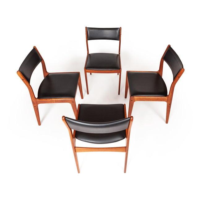 Danish Modern Johannes Andersen Uldum Møbelfabrik Danish Teak Dining Chairs — Set of Four For Sale - Image 3 of 12