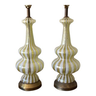 1950s Contemporary Murano Lamps - a Pair For Sale