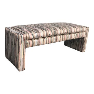 Late 20th Century Post Modern Upholstered Bench For Sale