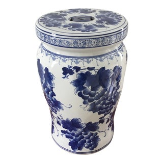 Chinese Blue and White Porcelain Garden Stand For Sale
