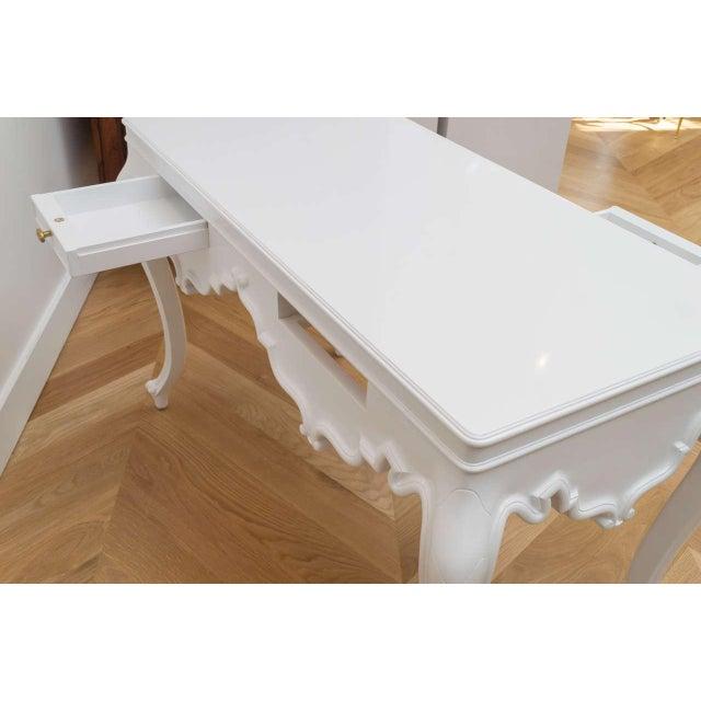 Italian Lacquered Partner Desk For Sale - Image 4 of 10
