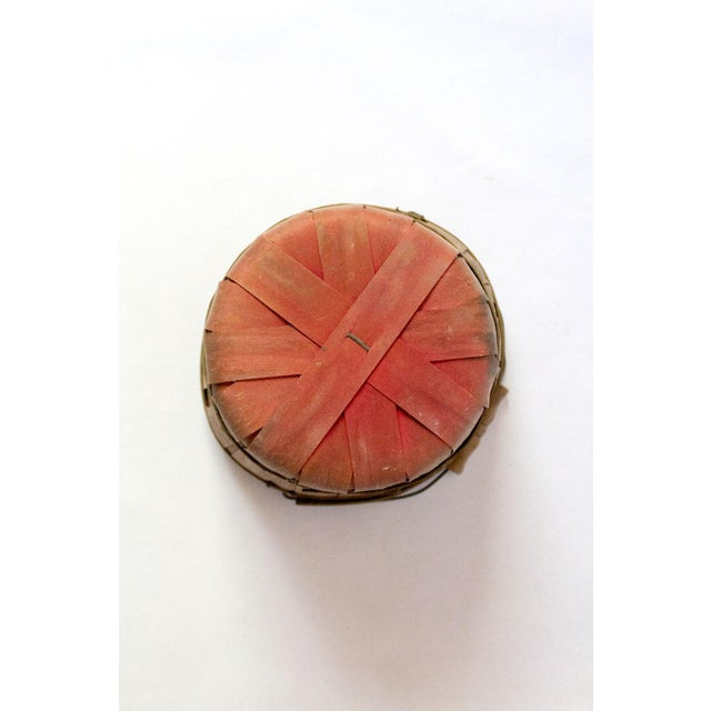 Vintage Wood Slat Apple Basket For Sale - Image 4 of 7
