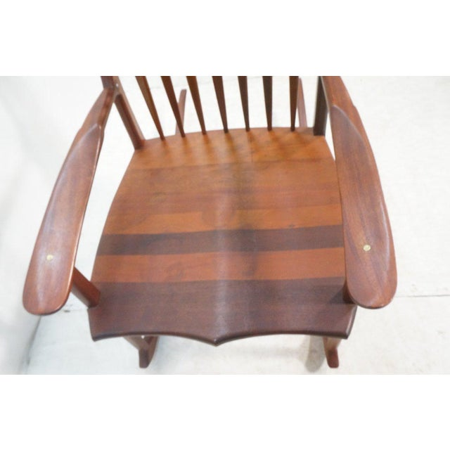 Tall Oversized American Craftsman Rocking Chair - Image 5 of 10