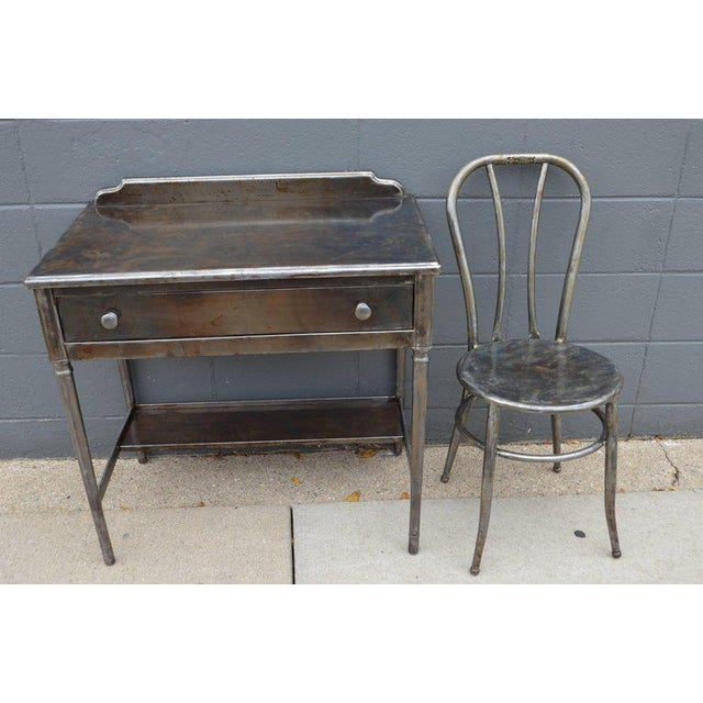 Mid-Century Simmons Steel Desk with Steel Chair Labelled Physicians' Nurses' - Image 4 of 10