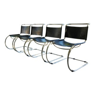 Mies Van Der Rohe Cantilever Dining Chairs - Set of 4 For Sale