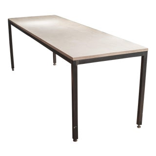 Contemporary Steel & Plywood Desk