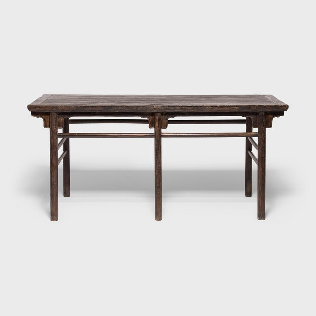 Known as a calligrapher's table, this expansive, early 19th-century table offered a scholar ample surface space to paint...
