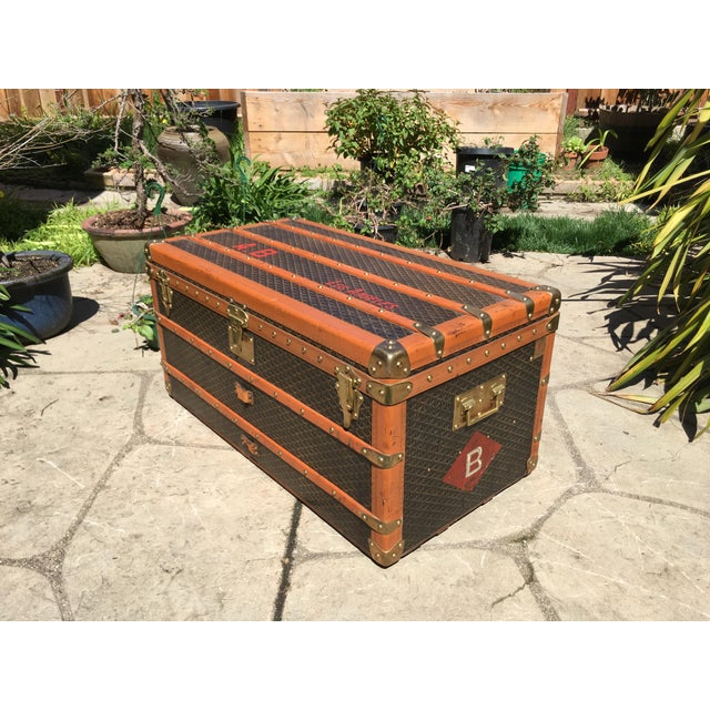 1930s Traditional Goyard Steamer Trunk For Sale - Image 9 of 13