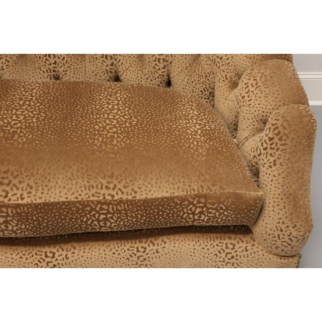 """Brown Marge Carson Transitional 74"""" Loveseat For Sale - Image 8 of 13"""