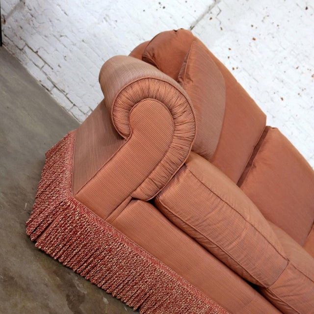 Peach Baker Sofa Lawson Style From the Crown and Tulip Collection Terracotta For Sale - Image 8 of 13