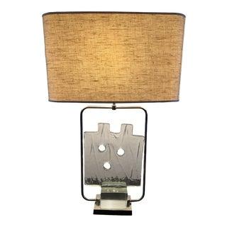 Luciano Gaspari Glass Sculpture Table Lamp For Sale