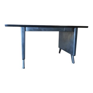 Vintage Industrial Stripped Steel Desk