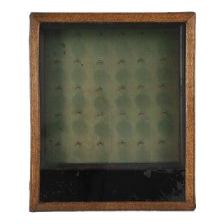 Antique English Oak Key Box For Sale