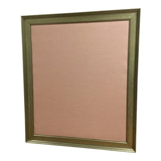 Gold Framed Pink Linen Corkboard For Sale