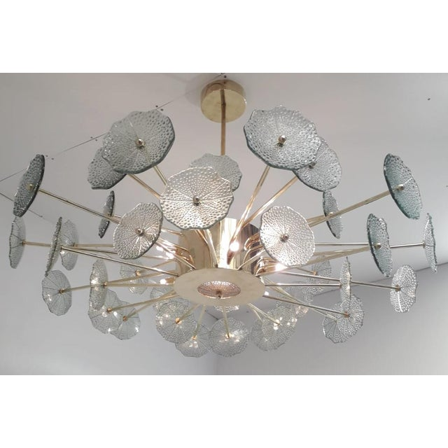 Not Yet Made - Made To Order Green Flowers Chandelier by Fabio Ltd For Sale - Image 5 of 9