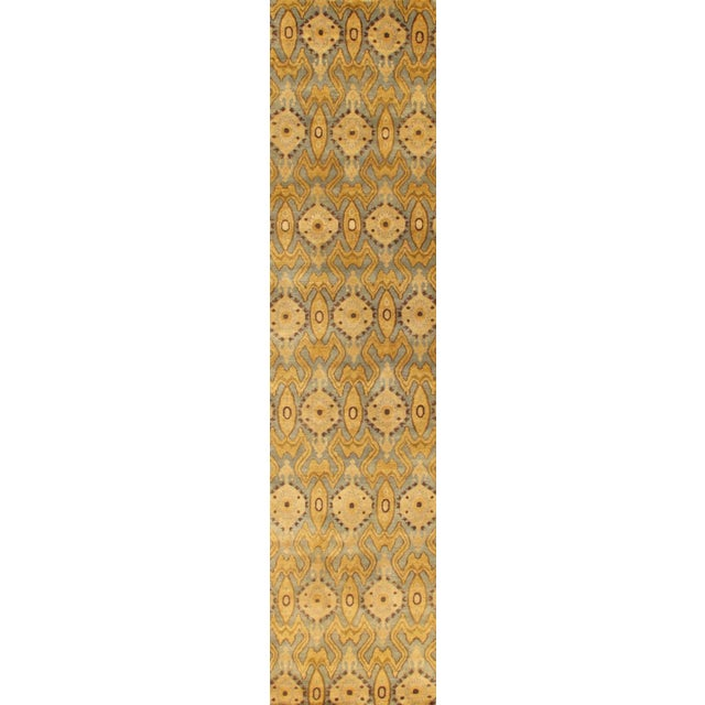 "Pasargad's Ikat Wool Area Rug - 2' 9"" x 9'10"" - Image 1 of 2"