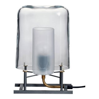 Efra Carlo Moretti Clear Murano Glass Table Lamp, Lamp Shade Only For Sale