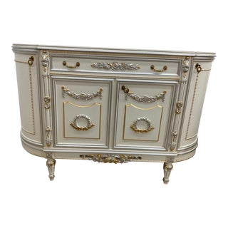 100% Made in Italy by Caspani Tino, Part of the Sky Collection. 19th Century Reproduction Buffet With 4 Doors For Sale