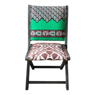 Anthropologie Ikat Terai Folding Chair For Sale