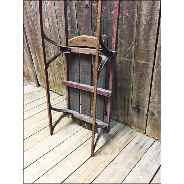 Vintage Weathered Wood & Metal Runner Sled - Image 11 of 11