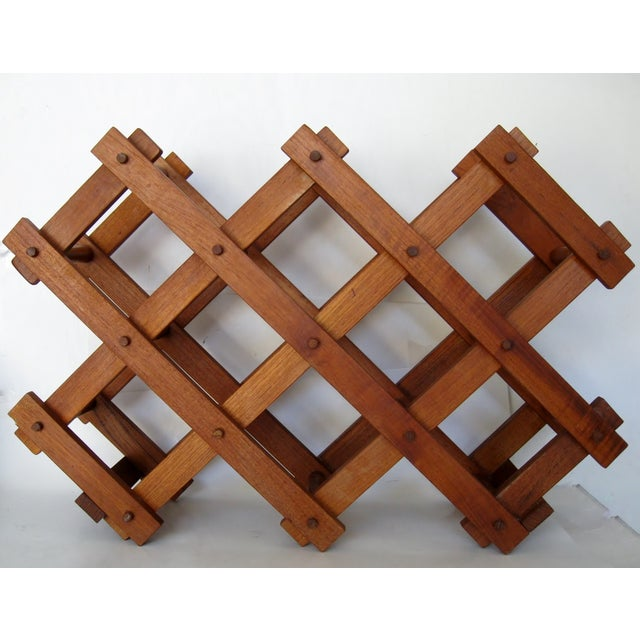 Teak Wood Wine Rack - Image 2 of 4
