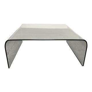 Roche Bobois Fiam Italia Angelo Cortesi Waterfall Glass Coffee Table For Sale