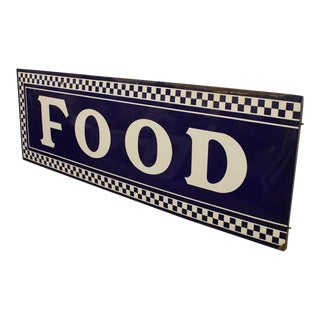 1930s Enamel Sign Food