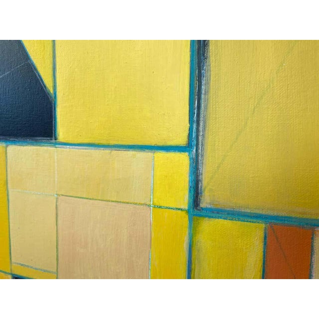 """Robert English """"Etheric Double"""", Large Abstract Cubist Painting, 1994-1995 For Sale - Image 9 of 13"""