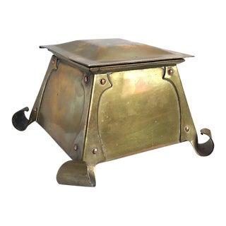 1905 Antique Art Crafts Shop Brass Inkwell