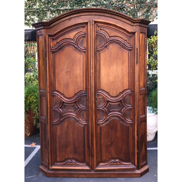 18th C French Country Armoire Corner Cabinet For Sale In Los Angeles - Image 6 of 6