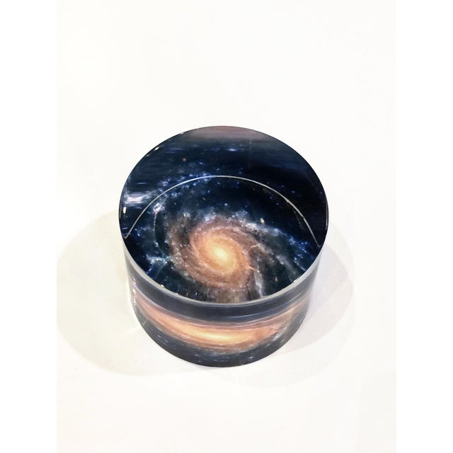 2020s DWM | MALOOS Galaxy Motif Lucite Paperweight For Sale - Image 5 of 7