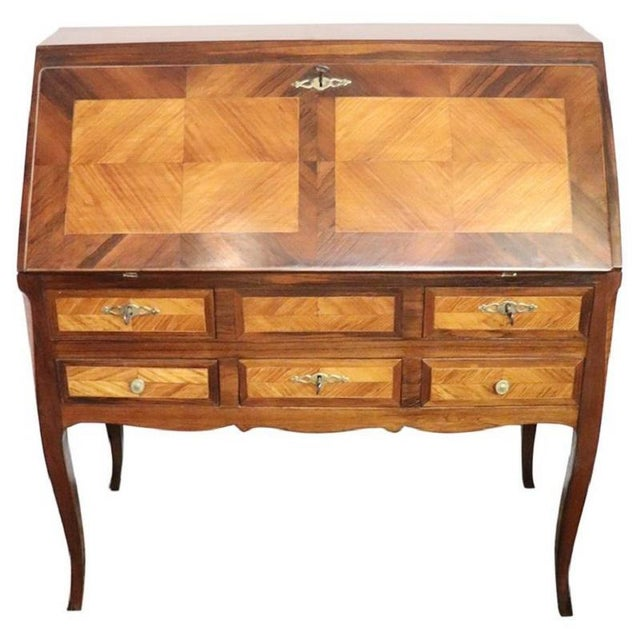 19th Century Italian Antique Louis XV Style Luxury Chest of Drawers With Secretaire For Sale - Image 13 of 13