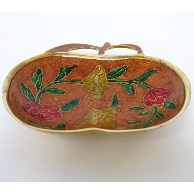 Boho Chic Enameled Trinket Dish For Sale - Image 3 of 4