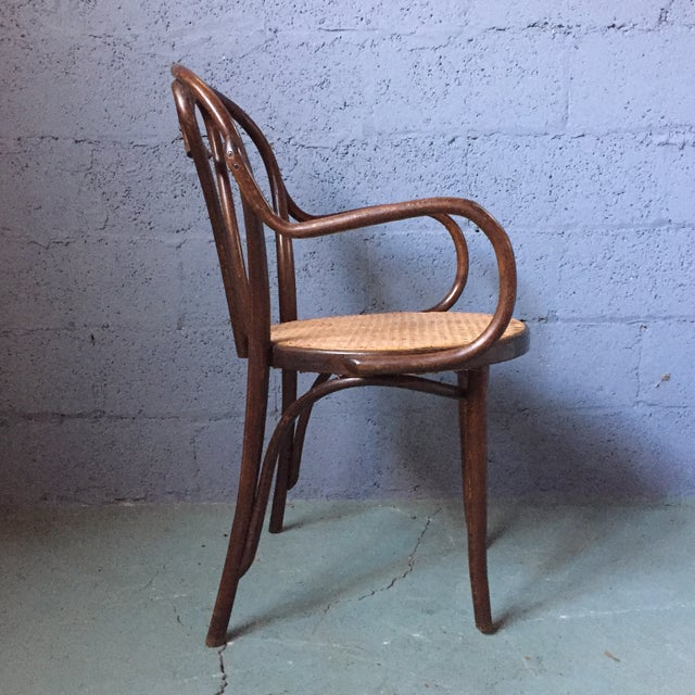 Thonet Bentwood Armchairs With Cane Seats - A Pair - Image 5 of 11