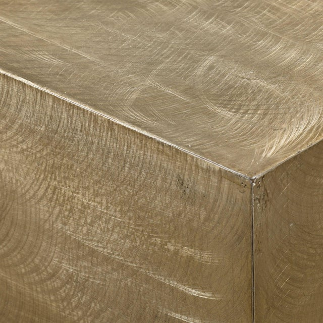 Modern Modern Metallic Brass Finish Coffee Table For Sale - Image 3 of 4