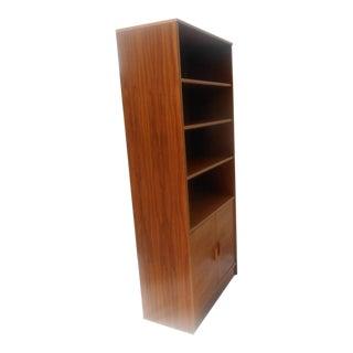 1980s Mid-Century Modern Teak Bookshelf For Sale