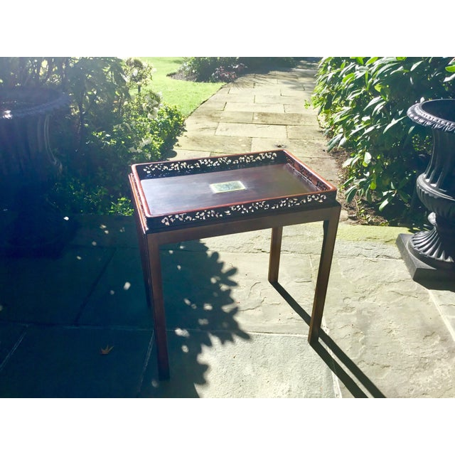 Chinoiserie Chippendale Rosewood Tray Table For Sale - Image 10 of 12