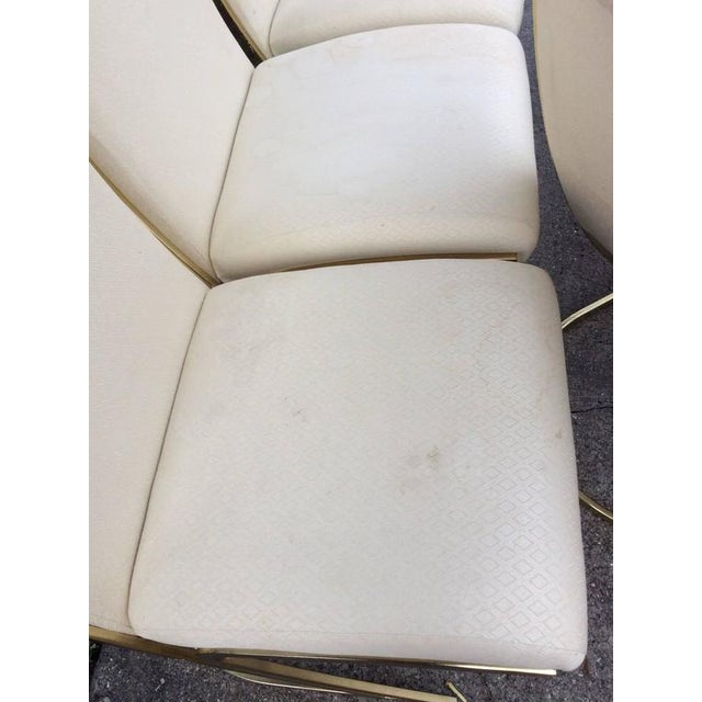 Pierre Cardin Vintage Brass Dining Chairs - Set of 6 For Sale - Image 10 of 12