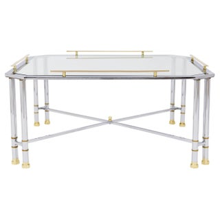 Chrome Brass & Glass Coffee Table Preview