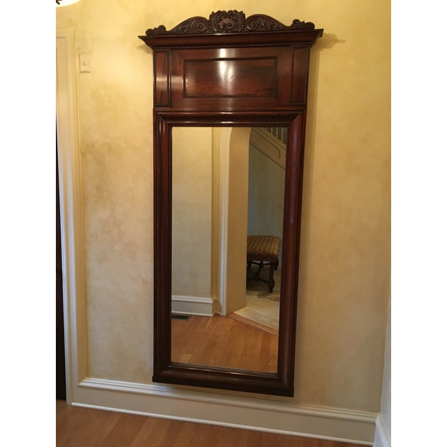 Traditional Antique Rosewood Frame Mirror For Sale - Image 3 of 3