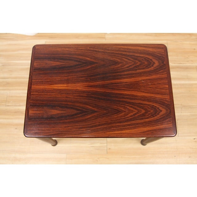 Rosewood Henning Kjærnulf for Vejle Stole Rosewood Side Tables - A Pair For Sale - Image 7 of 10