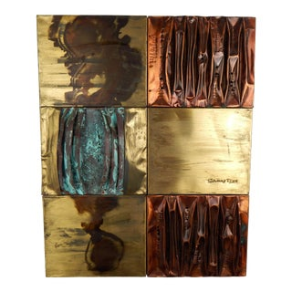 1960s Metal Wall Art, Signed Sammy Tsui For Sale