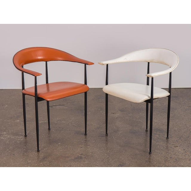 Italian P40 Armchairs by Giancarlo Vegni and Gianfranco Gualtierotti - a Pair For Sale - Image 3 of 12