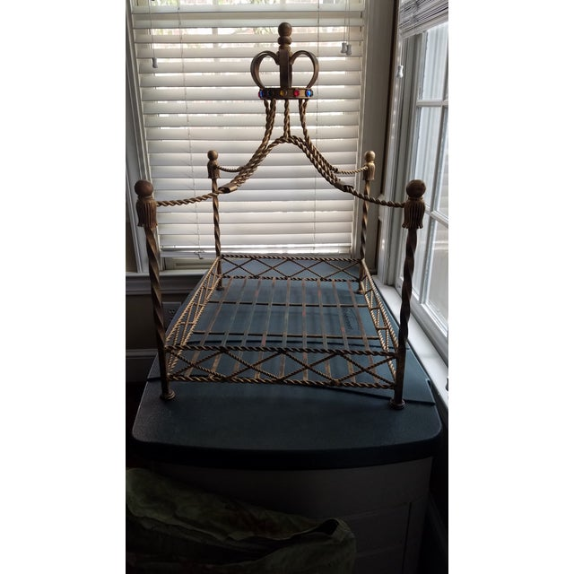 Baroque Pet Bed With Gemstone Crown For Sale - Image 4 of 9