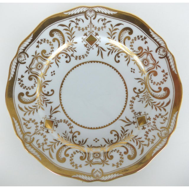 English Traditional Copeland Spode Gilt Decorated Dessert Plates, Retailed by Wh Plummer- Set of 11 For Sale - Image 3 of 9