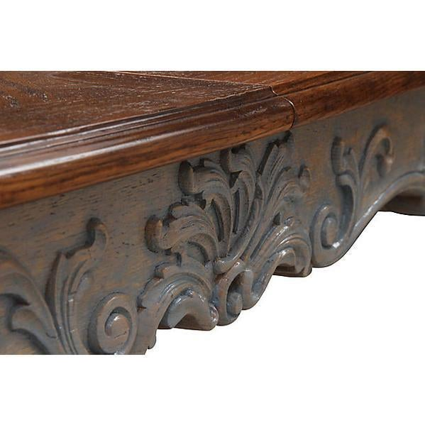 French Provincial Oak Dining Table - Image 5 of 8